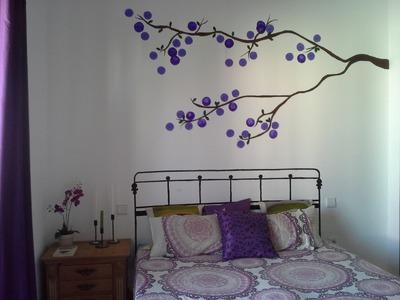 DIY Arbol y cabecero pintado en pared