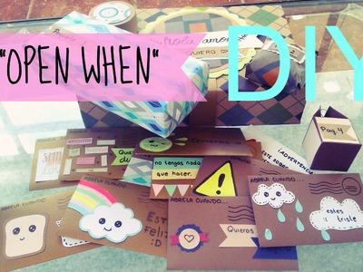 "DIY ❤ Cartas ""Abrela Cuando"" ❤ ""OPEN WHEN"" ❤ Detalles para tu novio ❤"