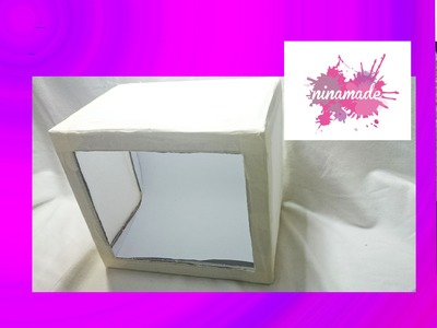 DIY. Como hacer una caja de luz con materiales reciclados.Muy fácil.