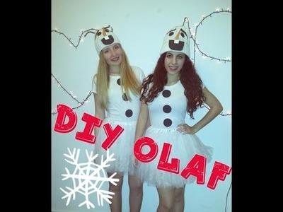 DIY disfraz OLAF muñeco de nieve.  DIY COSTUME OLAF