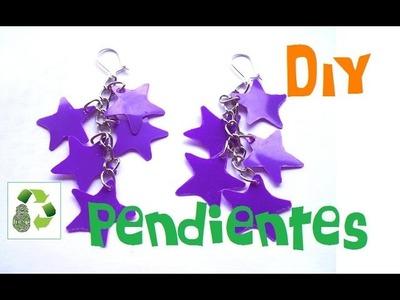 DIY PENDIENTES (RECICLAJE DE BOTE DE PLASTICO)