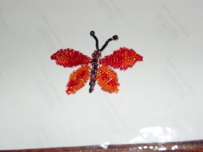 DIY Tutorial de mariposa grande de chaquiras. mostacillas 1 de 3