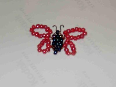 DIY Tutorial mariposa pequeña de chaquirones. mostacillas