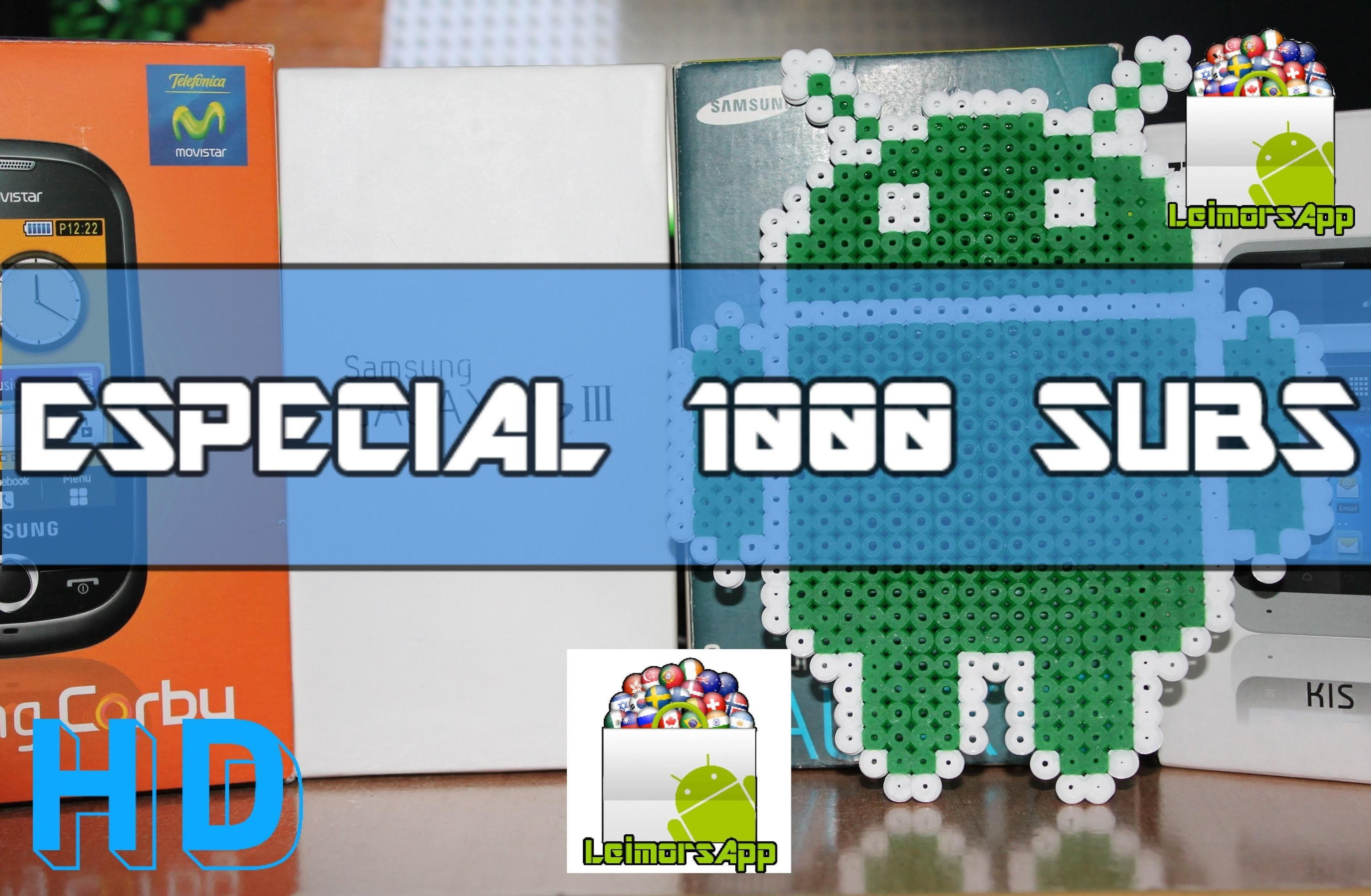 ESPECIAL 1000 SUBS. AGRADECIMIENTOS + ANDROID HAMA BEADS  =D