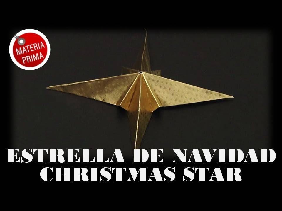 Estrella de Navidad en papel. Origami