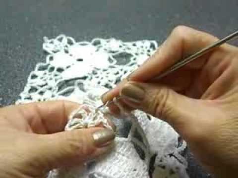 Flor de cuatro corazones Crochet
