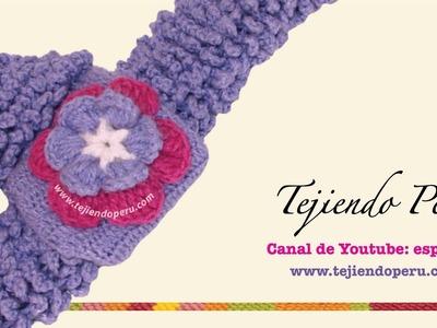 Flor tejida en crochet