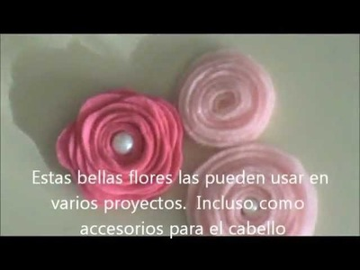 Flores de Fieltro Tutorial - Scrapbook