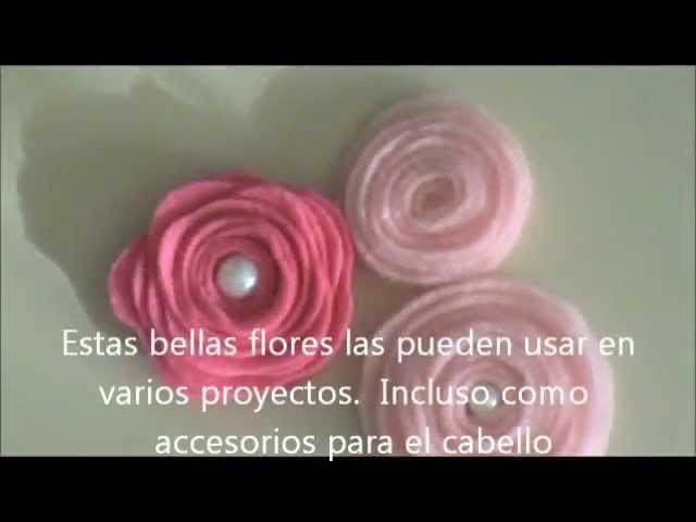 Flores de Fieltro Tutorial - Scrapbook