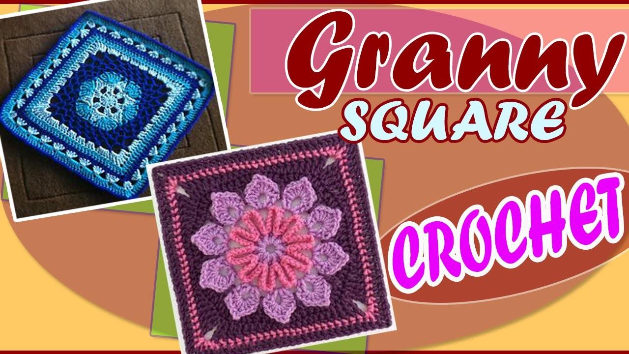 Granny Square Design Tejidos a Crochet Hermosos Diseños