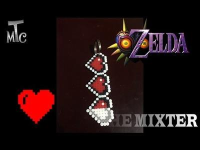 Hacer Corazones De Hama Beads | Como Hacer Llavero De Corazon (Zelda Majoras Mask) | Mixter Games