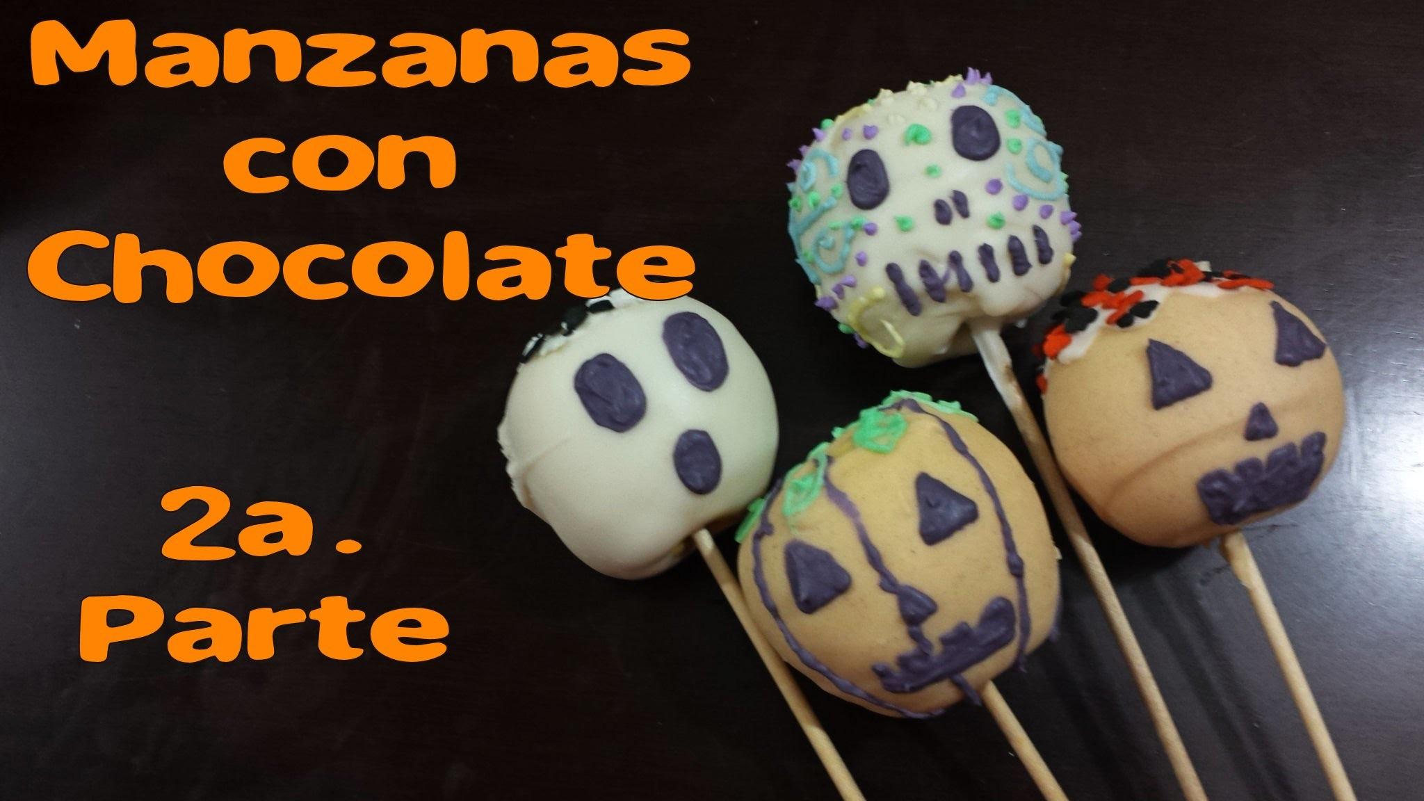 Manzanas con Chocolate Halloween #2.DIY TUTORIAL