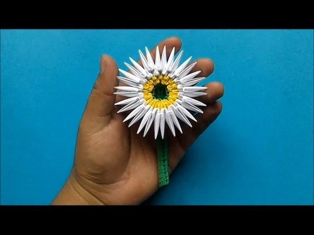 Origami 3D Flor margarita