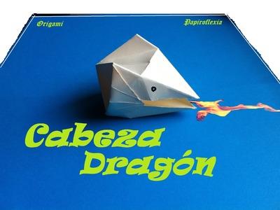 Origami - Papiroflexia. Cabeza de Dragón
