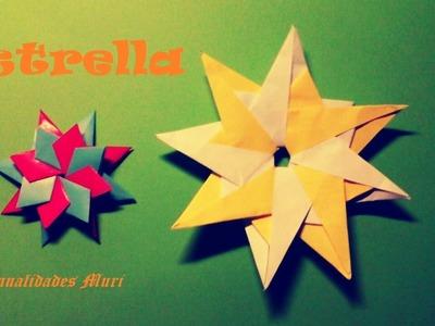 Origami - Papiroflexia. Estrella de piezas muy fáciles