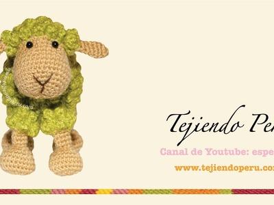 Ovejas tejidas a crochet amigurumi(amigurumi) Parte 3: patitas, orejas, cola y acabados