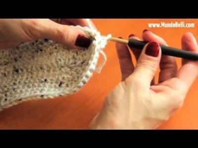 Pantufla Bota Crochet 3 de 8