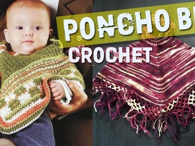 Poncho Para BeBe - Tejidos a Crochet - Dos Agujas
