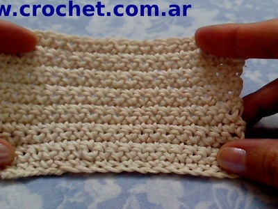 Punto bajo en tejido crochet tutorial paso a paso.
