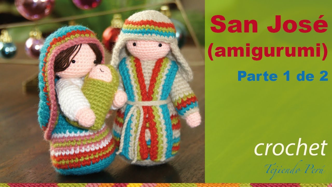 San José tejido a crochet (amigurumi)  Parte 1 de 2