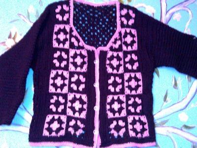 Suéter o Chaleco en crochet.ganchillo - parte 1