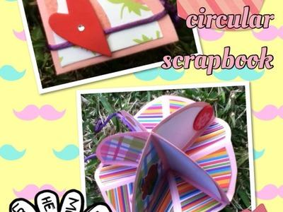 Tarjeta circular scrapbook