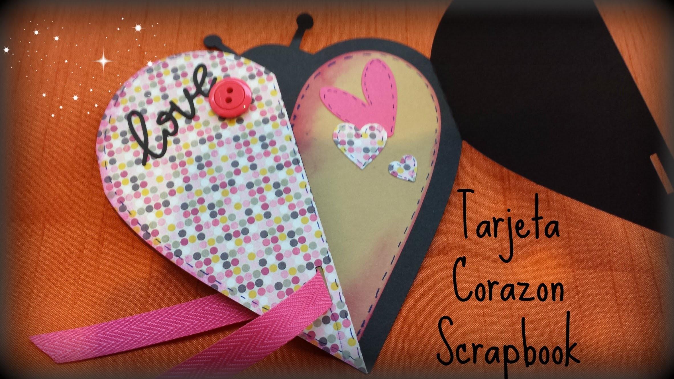 Tarjeta Proyecto en forma de corazon, Scrapbook