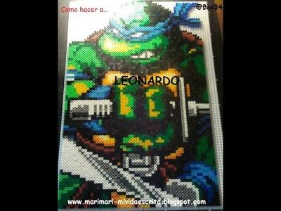 TMNT DIY Tortuga Ninja Leonardo con Hama Beads