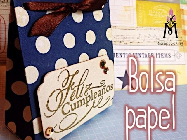 TUTORIAL Bolsa de Regalo-Dulces.Gift Bag Party Favor