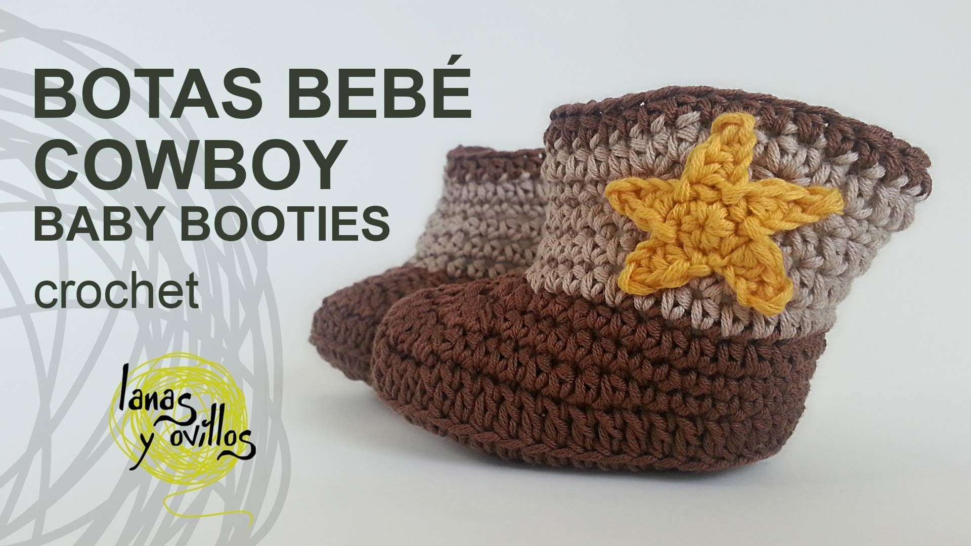 Tutorial Botas Cowboy Bebe Crochet  o Ganchillo (English subtitles)