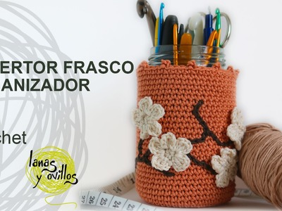 Tutorial Organizador Bote Crochet o Ganchillo