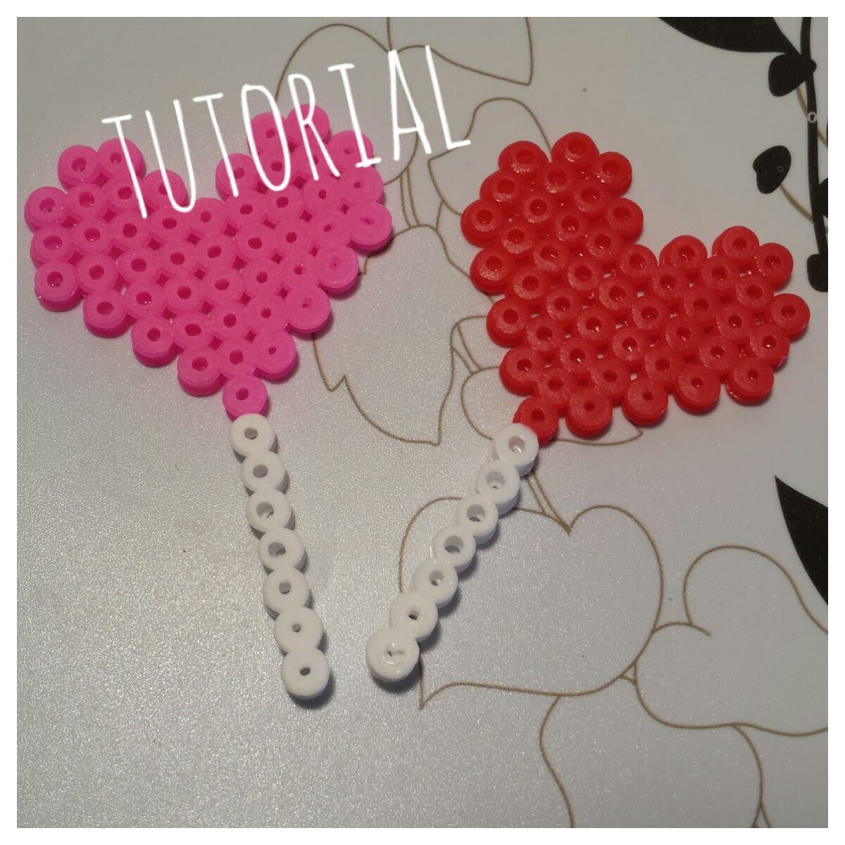 ❤ TUTORIAL: Piruleta de Corazón con Hama Beads. Pyssla ❤