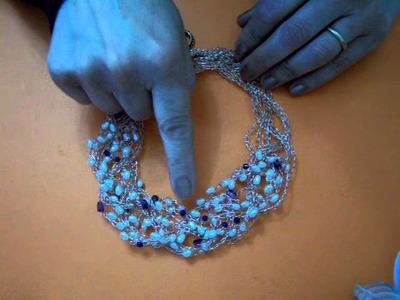 Tutorial1 tejido a crochet con hilo de plata, cobre y de color. MOV