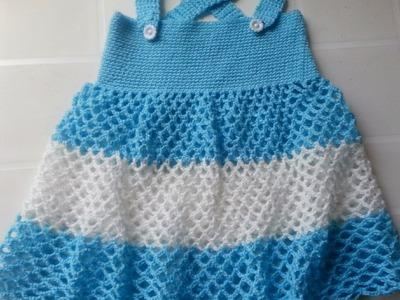 Vestido Girl a Crochet  talla 1 año