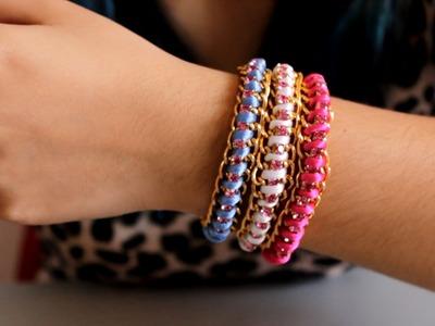 2 Ideas para hacer pulseras DIY. Accesorios de Moda - Hablobajito