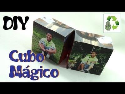 3. DIY CUBO MÁGICO (RECICLAJE DE CAJAS DE GALLETAS)