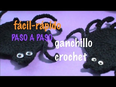 ARAÑA TEJIDA FACIL GANCHILLO CROCHET