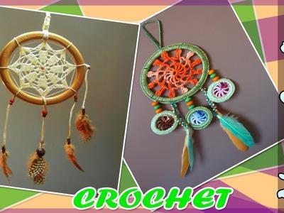 Atrapasueño - Mandala con Patrones Tejidos a Crochet