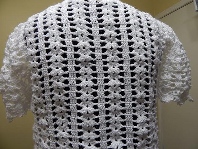 Bolero Blanco Crochet parte 3 de 3