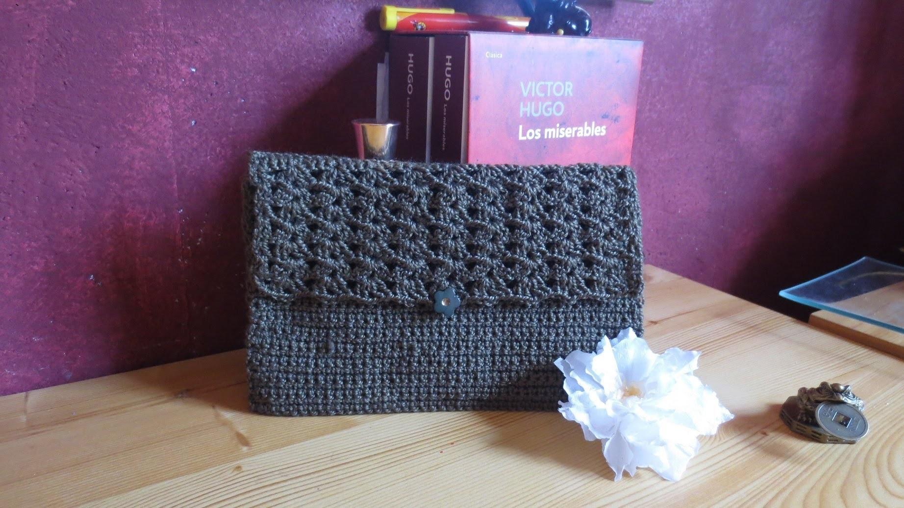 Bolsa de crochet para paleta de mezcla maquillaje