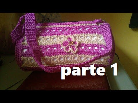 BOLSA TEJIDA A CROCHET PUNTO PERUANO (PARTE 1 DE 3)