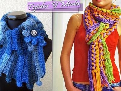 Bufanda de invierno - Tejido a Crochet