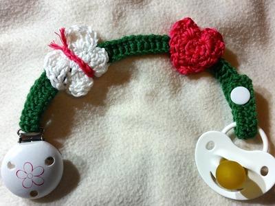 Cadena de chupete para bebés en crochet by BerlinCrochet