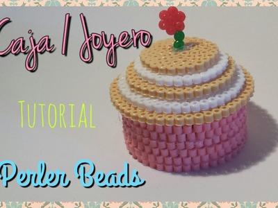 ☆ Caja Cupcake de Perler Beads. Jeweler Cupcake Perler Beads ☆