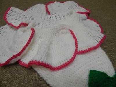 Capullo en Flor para Bebe Crochet parte 2 de 2