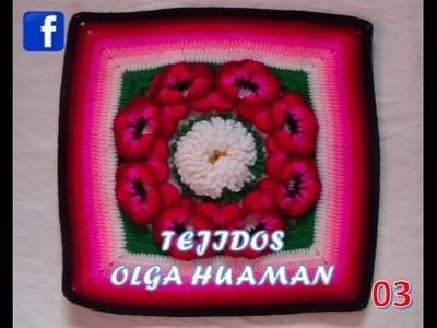 Colchas a crochet paso a paso en español