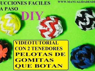 COMO HACER PELOTAS 3D QUE BOTAN DE GOMITAS CON DOS TENEDORES. TUTORIAL DIY