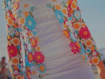 Como hacer saco con flores  a crochet