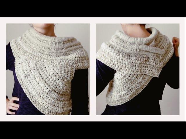 """Cómo hacer tu """"Katniss Cowl"""" a Crochet - DIY - Parte 2.2"""