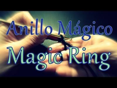 Cómo hacer un anillo mágico al crochet (magic ring) -tejido para zurdos-